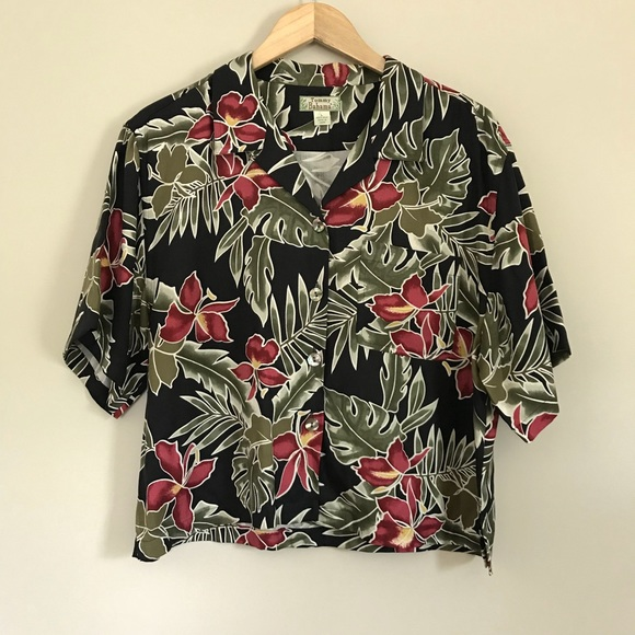 b21632f4 Tommy Bahama Tops - Tommy Bahama Floral Hawaiian Shirt 100% Silk A8